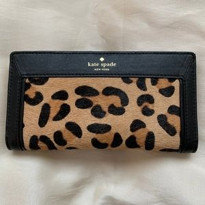 Kate Spade Leopard Stacy Wallet-Excellent Cond.